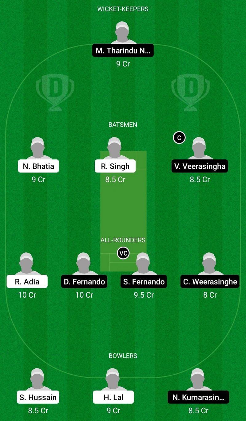 Dream11 Team for Lonigo vs Royal Cricket Padova - ECS T10 Venice 2021.