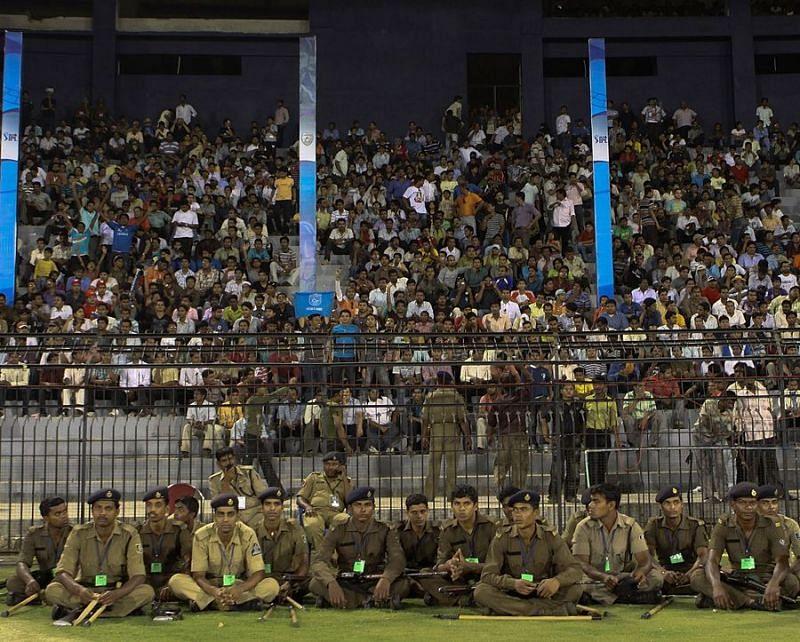 Security during an IPL 2010 game