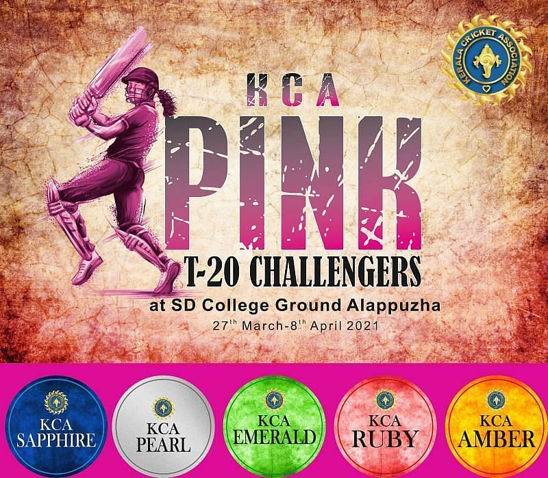 Dream11 Team for Team Amber vs Team Emerald - KCA Pink T20 Challengers.