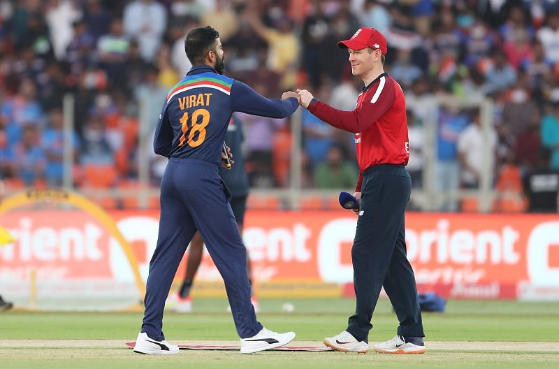 Virat Kohli (L) and Eoin Morgan lead their respective sides in the India vs England ODI series