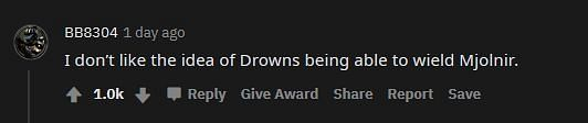 A Redditor made a valid point in the comments (Image via Reddit)