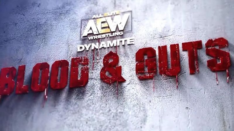 Poster for the first AEW Blood & Guts