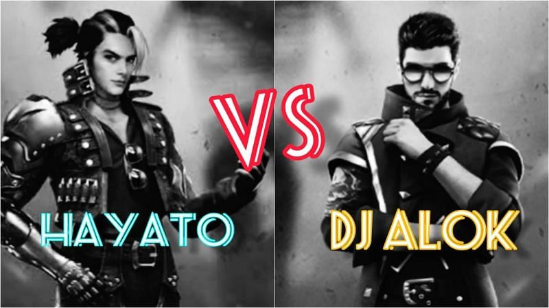 Hayato and DJ Alok are popular characters in Garena Free Fire (Image via Sportskeeda)