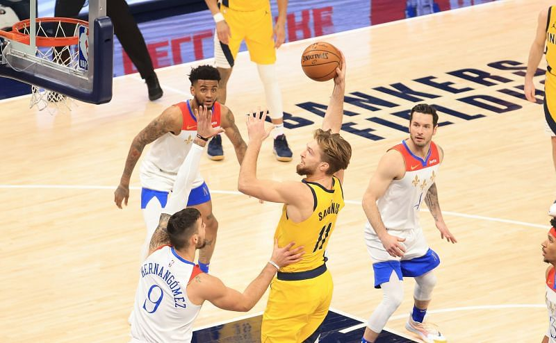 Domantas Sabonis (#11) of the Indiana Pacers