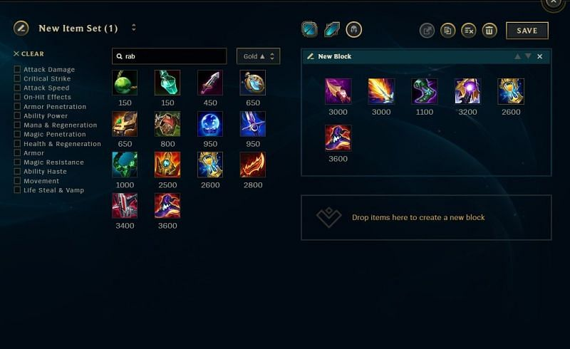 Katarina standard build (Image via Riot Games)