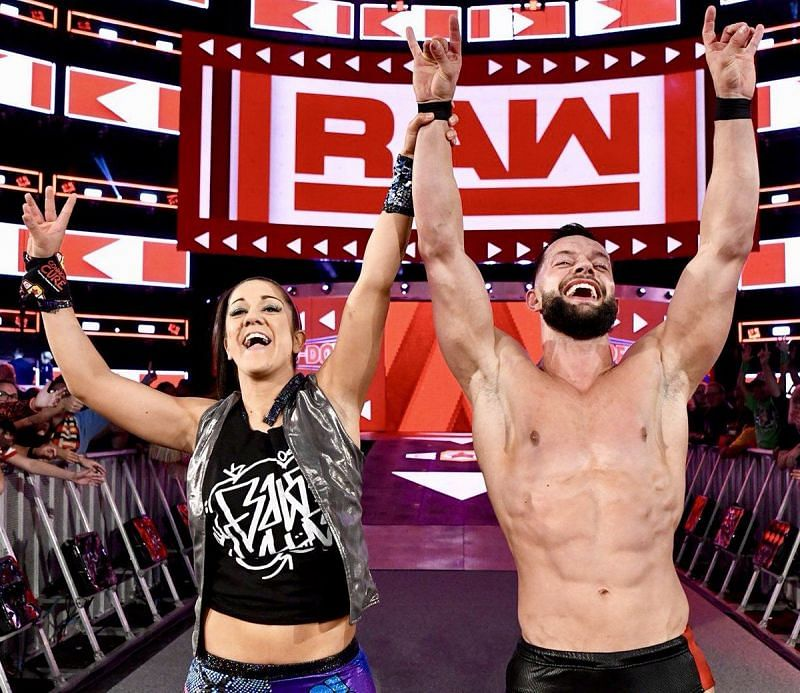 Finn Balor and Bayley in WWE