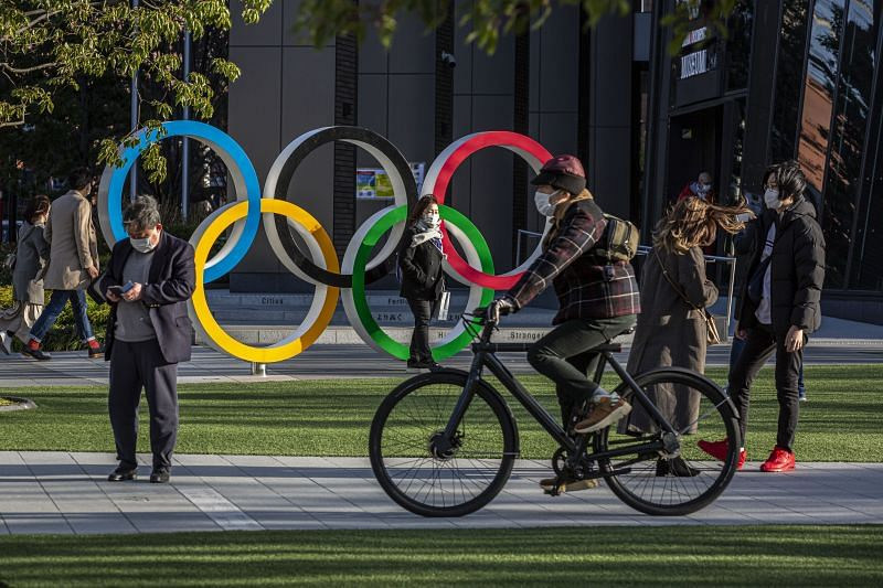 The Olympic Rings in Tokyo, Japan
