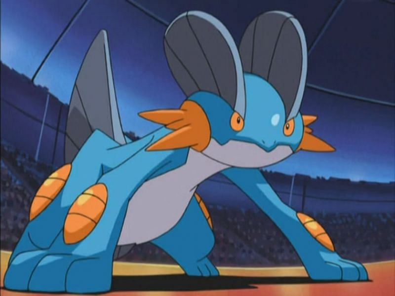 Swampert in the anime (Image via The Pokemon Company)