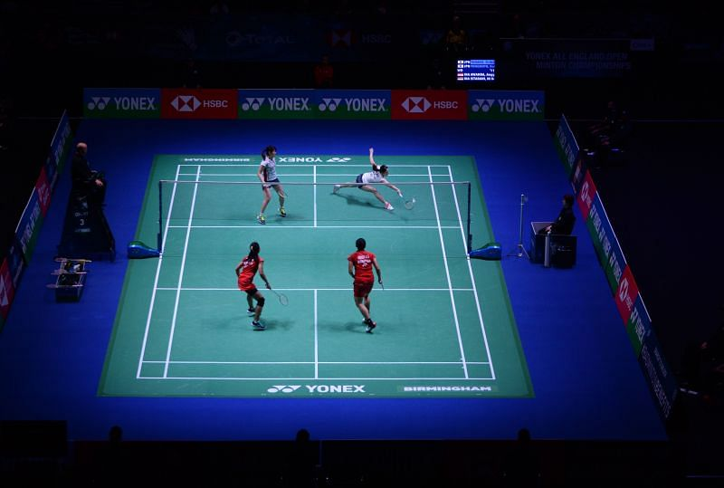 The inaugural edition of the All England Championships only had doubles events