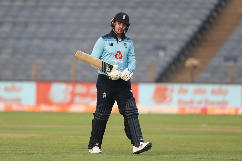 The in-form Jason Roy was castled by India