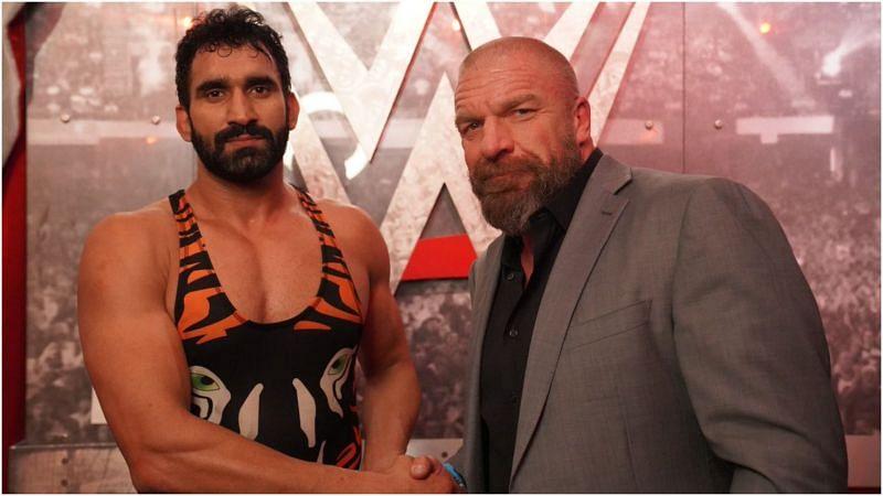 Jeet Rama with WWE Hall of Famer Triple H