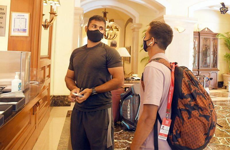 Dinesh Karthik and Abhishek Nayar of KKR