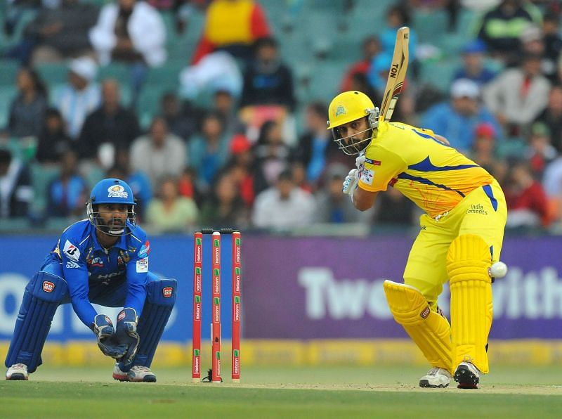 Murali Vijay in IPL action for CSK