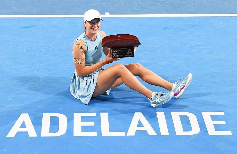 Iga Swiatek had put up a dominant show during her title run in Adelaide.
