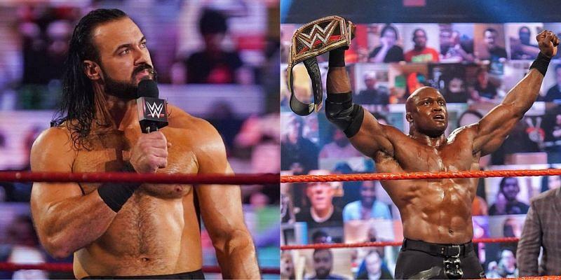 ड्रू मैकइंटायर और WWE चैंपियन बॉबी लैश्ले