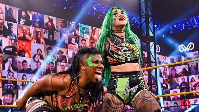 NXT Women's Tag Team Champion Ember Moon and Shotzi Blackheart