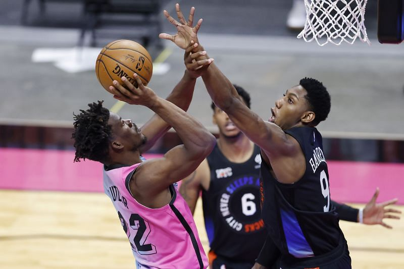 Jimmy Butler (#22) of the Miami Heat.