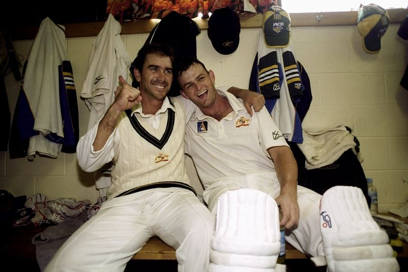 Justin Langer (L) and Adam Gilchrist: The Heroes of Hobart