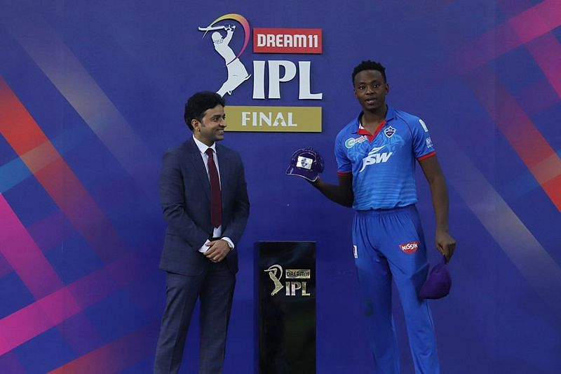 Kagiso Rabada won the Purple Cap in IPL 2020 (Image courtesy: IPLT20.com)