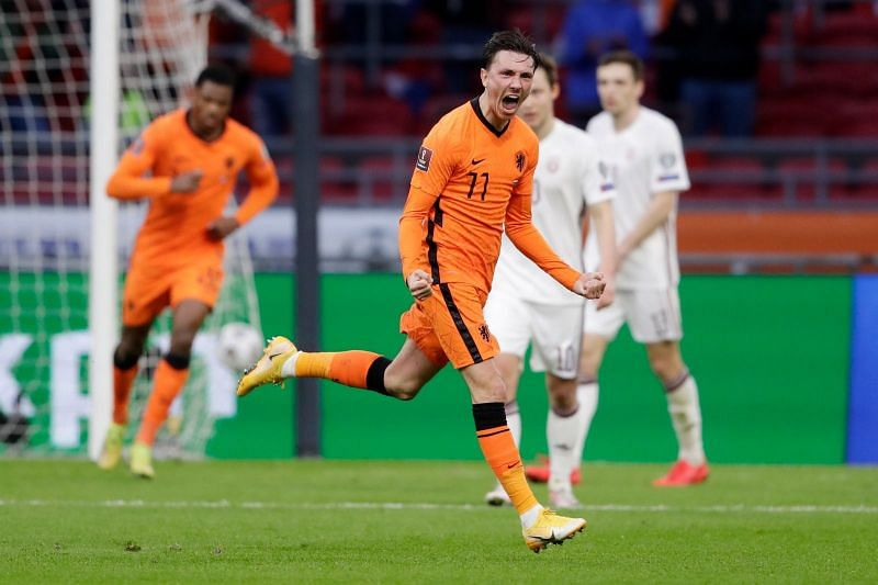 The Netherlands beat Latvia 2-0.