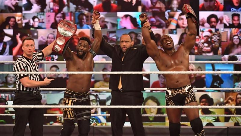 The current Raw Tag Team Champions Shelton Benjamin and Cedric Alexander