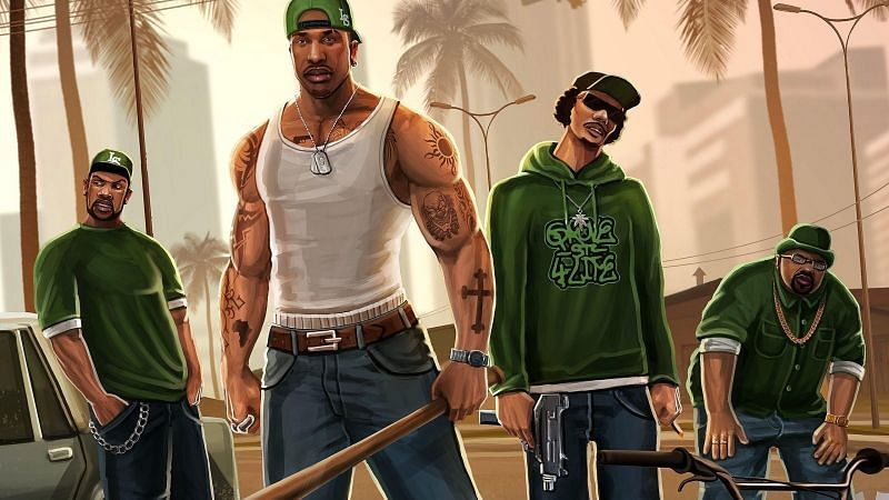 GTA San Andreas on mobile phones offers over 70 hours of gameplay (Image via Wallpaper Cave)