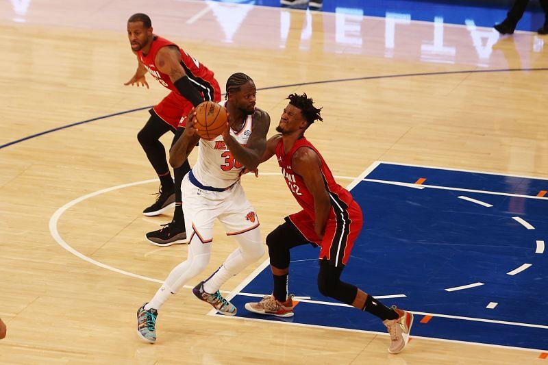 Julius Randle (#30) of the Miami Heat.