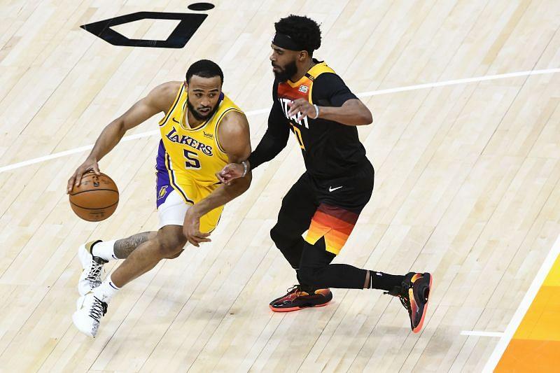 Talen Horton-Tucker (#5) of the LA Lakers