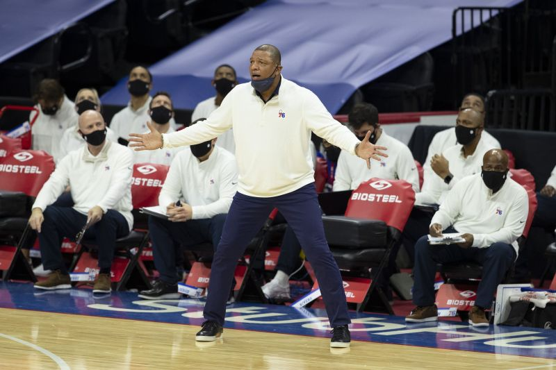 Head coach Doc Rivers of the Philadelphia 76ers