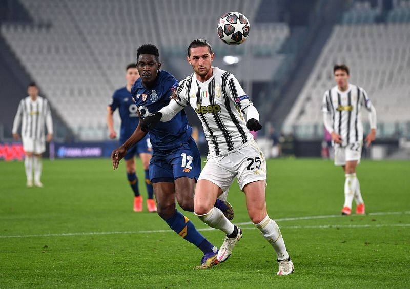 Rabiot in action for Juventus