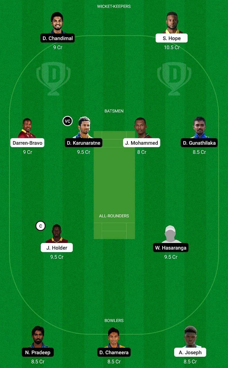 WI vs SL 3rd ODI Dream11 Tips