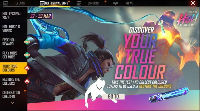 'Your True Colours' के विकल्प पर जाएं