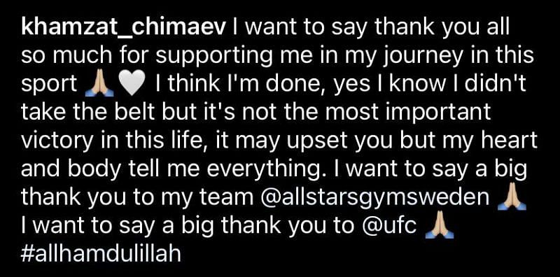 From Khamzat Chimaev