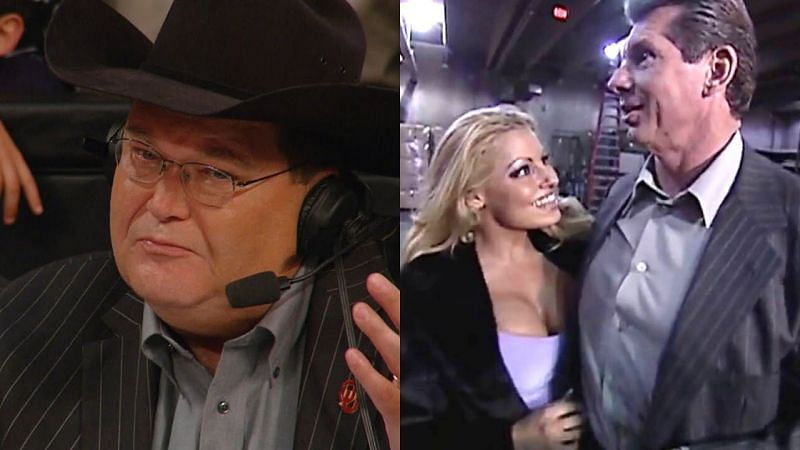 Jim Ross, Trish Stratus, and Vince McMahon.