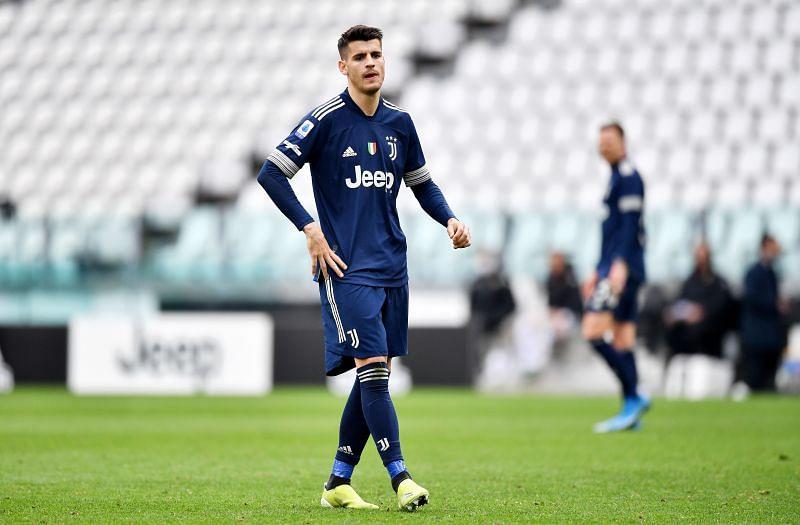 Alvaro Morata in action for Juventus