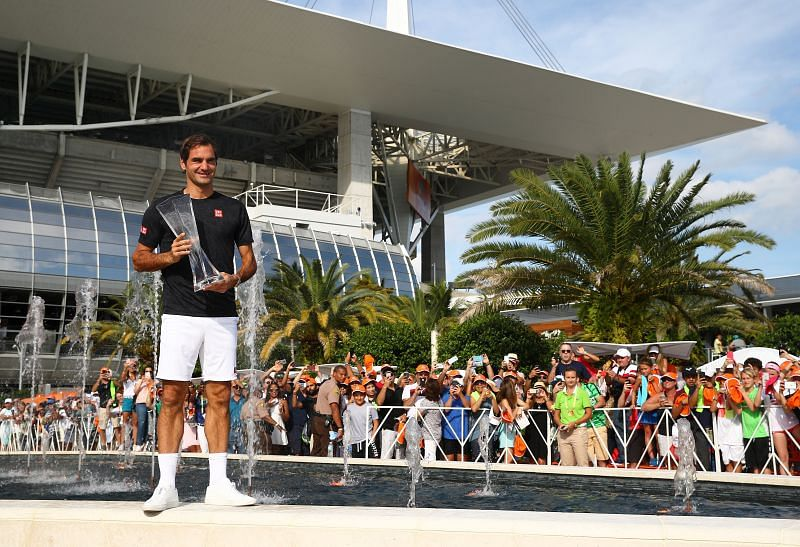 Miami Open 2019 champion Roger Federer is also missing from the field