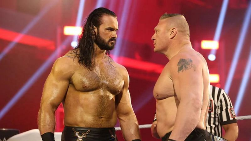 Brock Lesnar faced off against Drew McIntyre in the main event WWE WrestleMania 36 Night 2