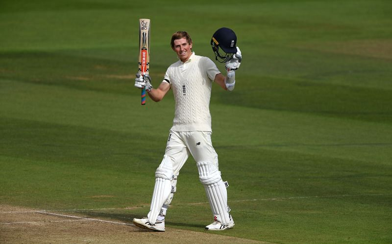 Zak Crawley scored a half-century in the pink-ball Test against India.
