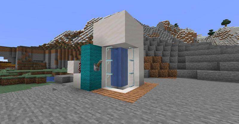 A Minecraft shower. (Image via Minecraft)