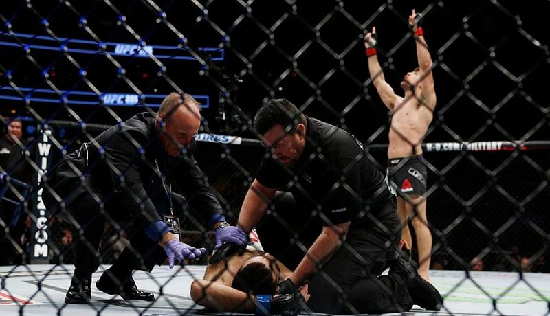Vincente Luque knocked Belal Muhammad out cold at UFC 205.