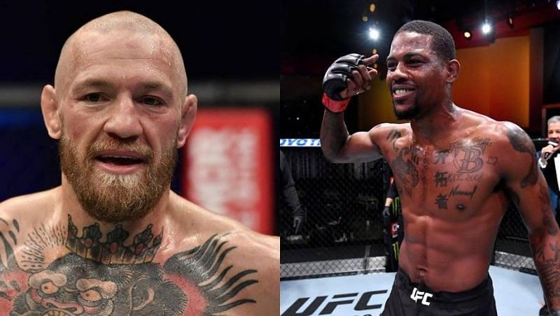 Conor McGregor (left); Kevin Holland (right)