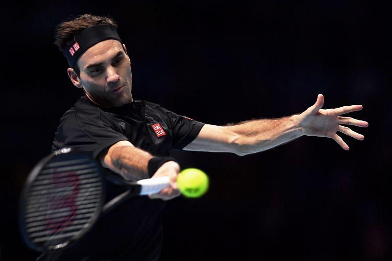 Roger Federer at the 2019 Nitto ATP Finals