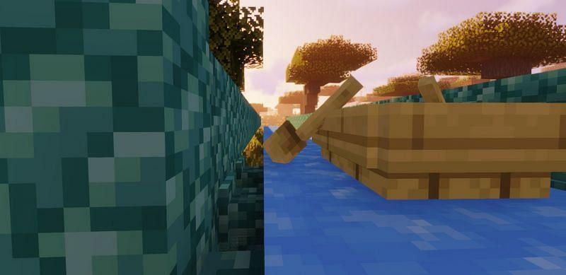 Shown: A Blue Ice Railway (Image via Minecraft)