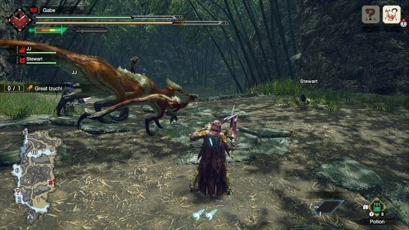 Capturing monsters in Monster Hunter Rise (Image from au.pcmag.com)