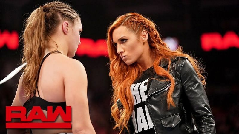 Ronda Rousey and Becky Lynch