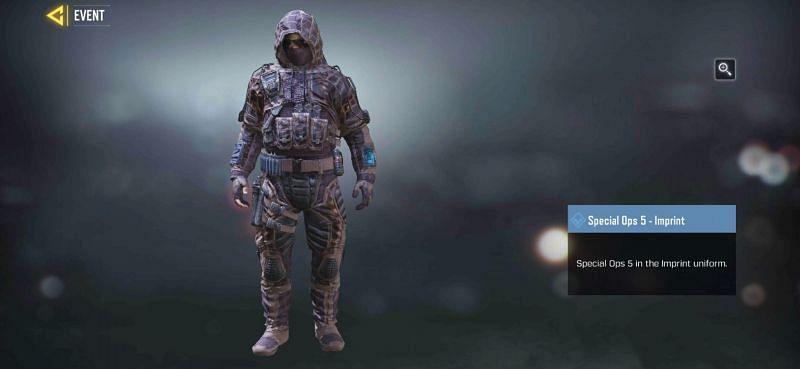 Imprint uniform for Special Ops 5.