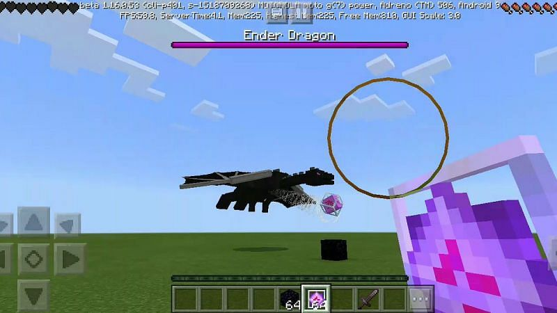 Ender Dragon fight (Image via YouTube & Minecraft)