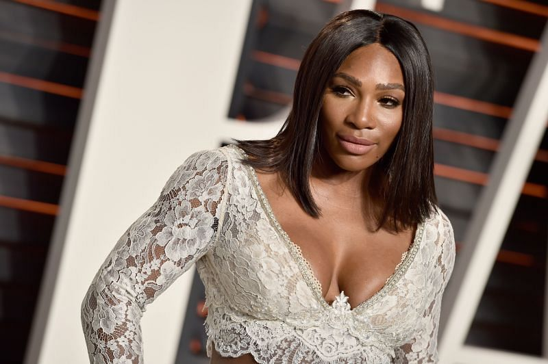 Serena William attends the 2016 Vanity Fair Oscar Party in Beverly Hills, California