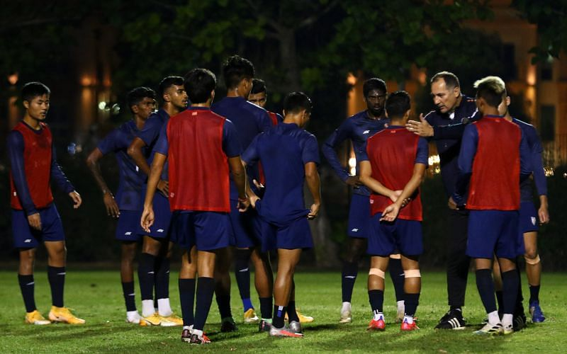 Igor Stimac with the Indian football team (Image: AIFF)