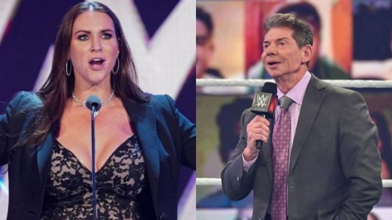 Stephanie and Vince McMahon.
